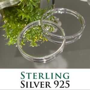 NWT Sterling Silver Bangle 8'' Round Snap …
